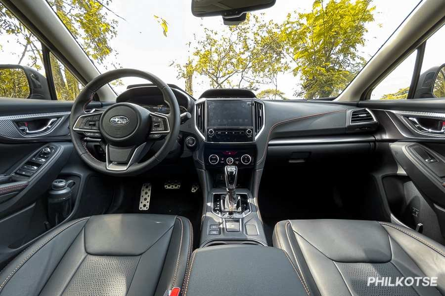 A picture of the 2021 Subaru XV's front cabin