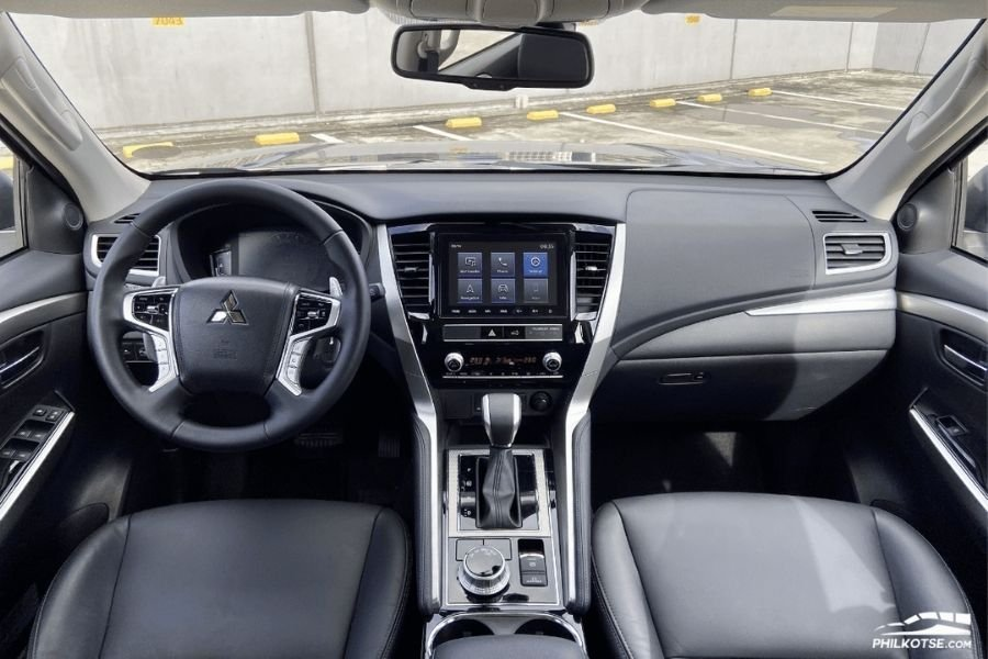 A picture of the interior of the Montero Sport GT