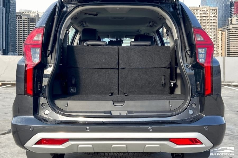 A picture of the Montero Sport's trunk