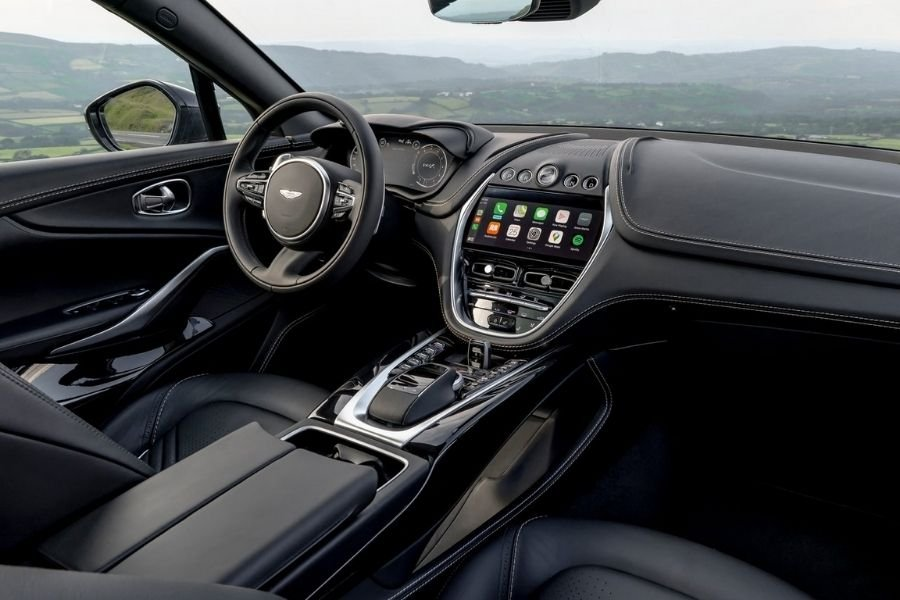 A picture of the interior of the Aston Martin DBX