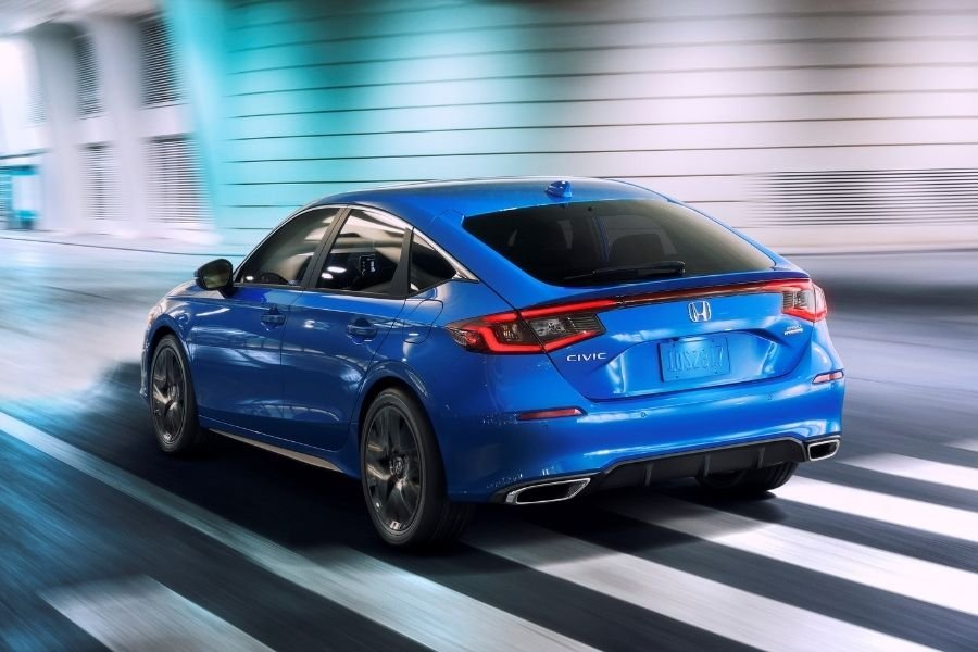 A picture of the rear of the Honda Civic Hatchback