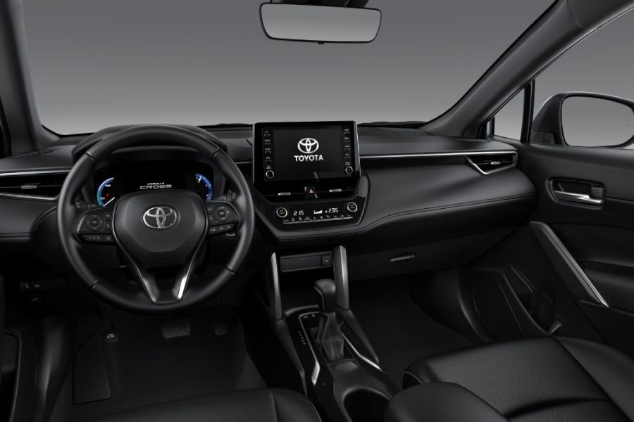 A picture of the interior of the Corolla Cross