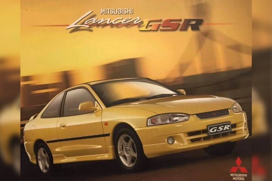 A picture of the Mitsubishi Lancer GSR facelift brochure