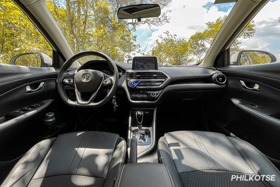 A picture of the Changan Alsvin interior