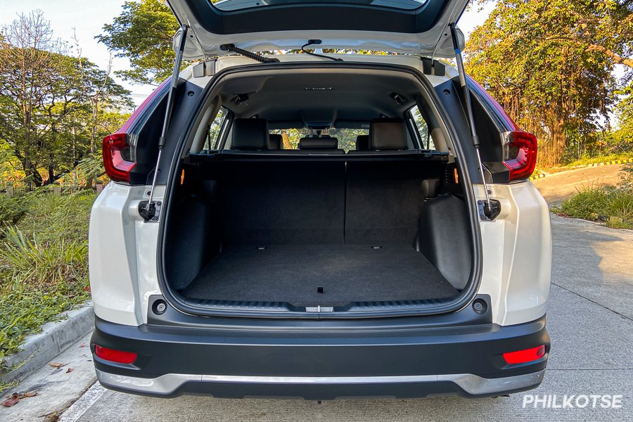 A picture of the CR-V S gasoline's trunk
