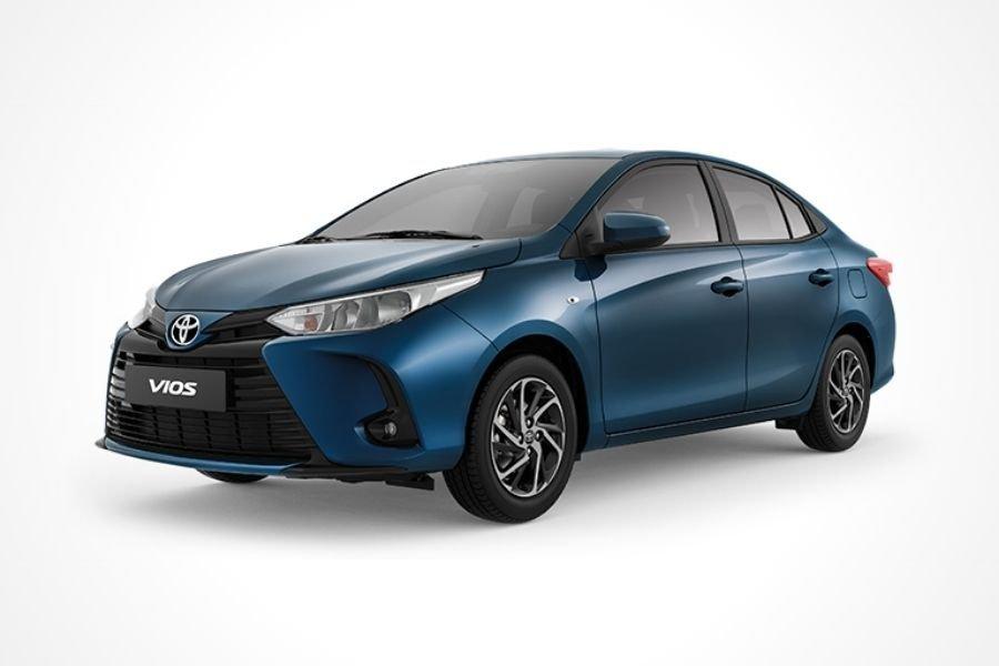 Toyota Vios E Grayish Blue Mica Metallic paint option