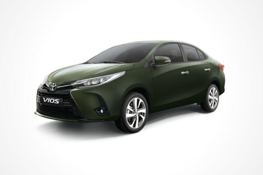 Toyota Vios G Aluminum Jade Metallic paint option