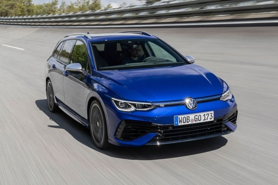 A picture of the Golf R Estate on a racetrack