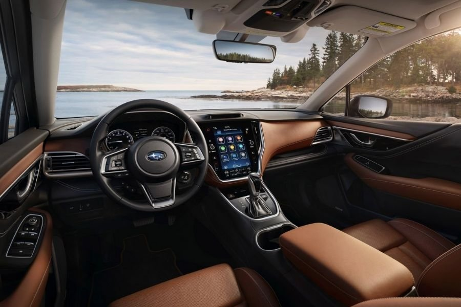 A picture of the interior of the 2022 Subaru Outback