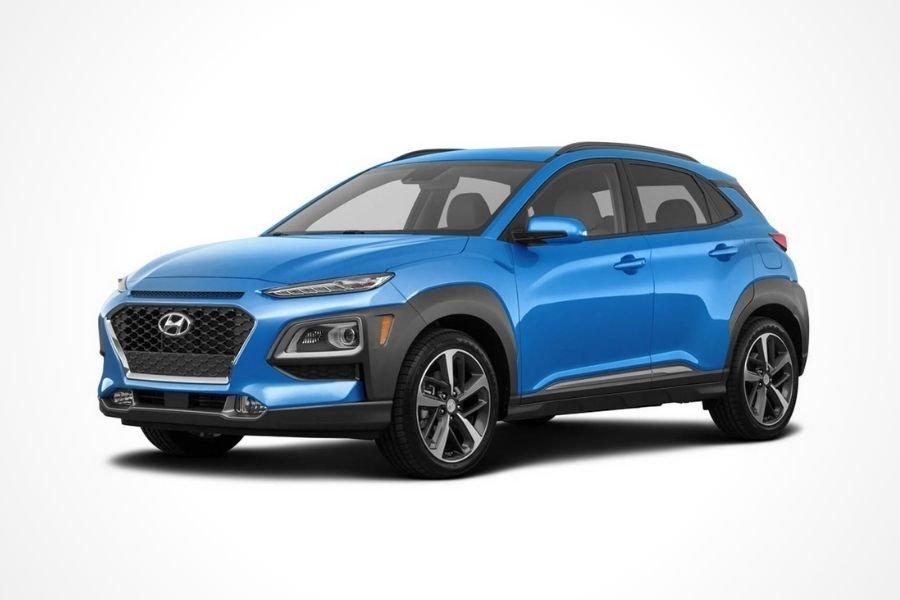 Hyundai Kona in Blue Lagoon color