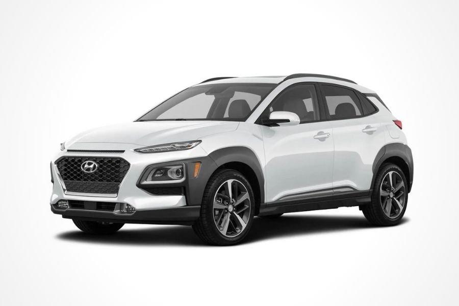 Hyundai Kona in White Chalk color