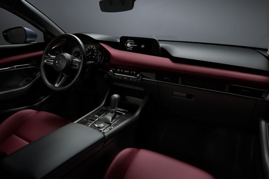 A picture of the interior of the Mazda3