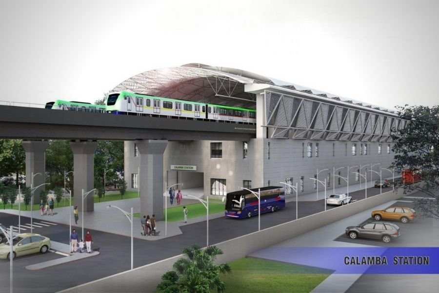 A 3D rendering of the PNR Calamba station