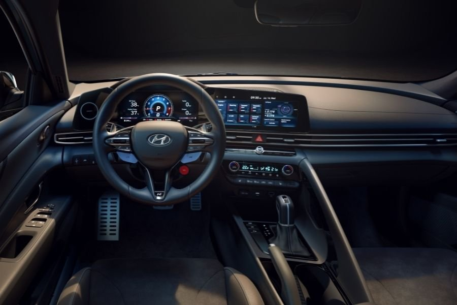 A picture of the Hyundai Elantra N's cockpit