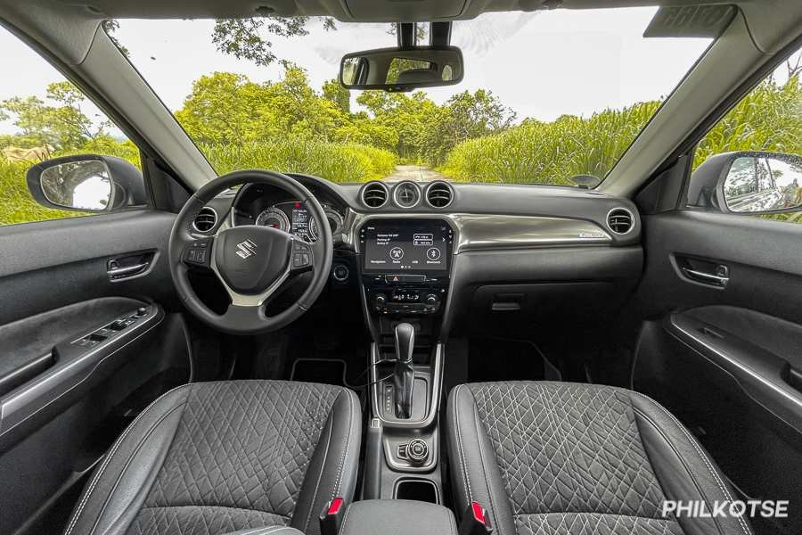 A picture of the interior of the Vitara