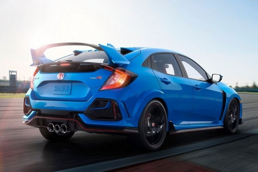 A picture of the rear of the Civic Type R