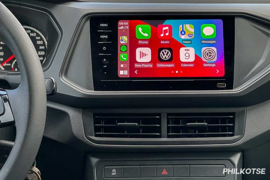 A picture of the T-Cross' headunit