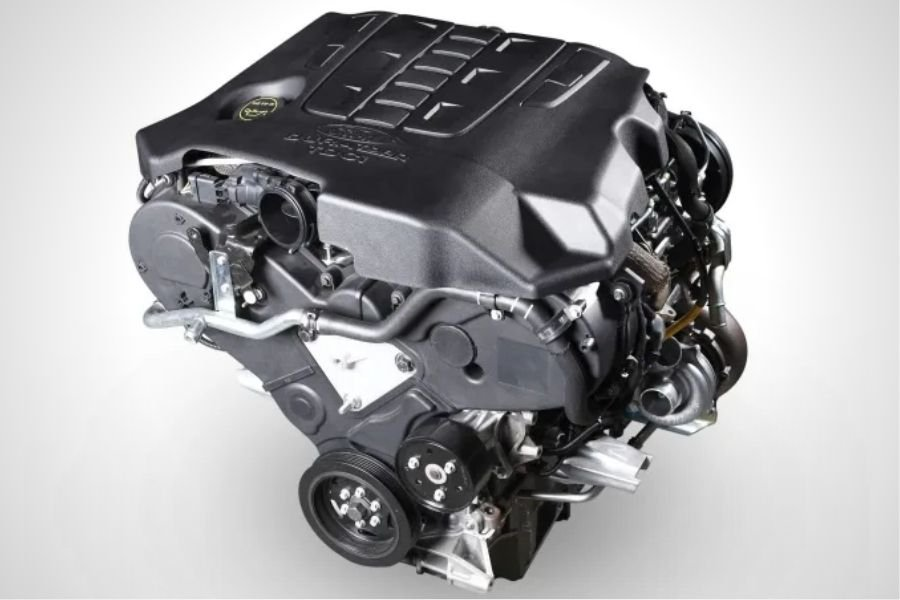 A picture of the Ford Territory engine