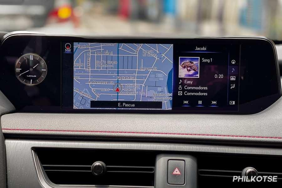 A picture of the UX 200's headunit
