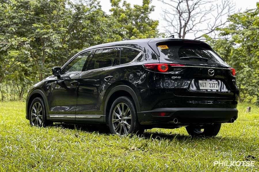 A picture of the rear of the Mazda CX-8