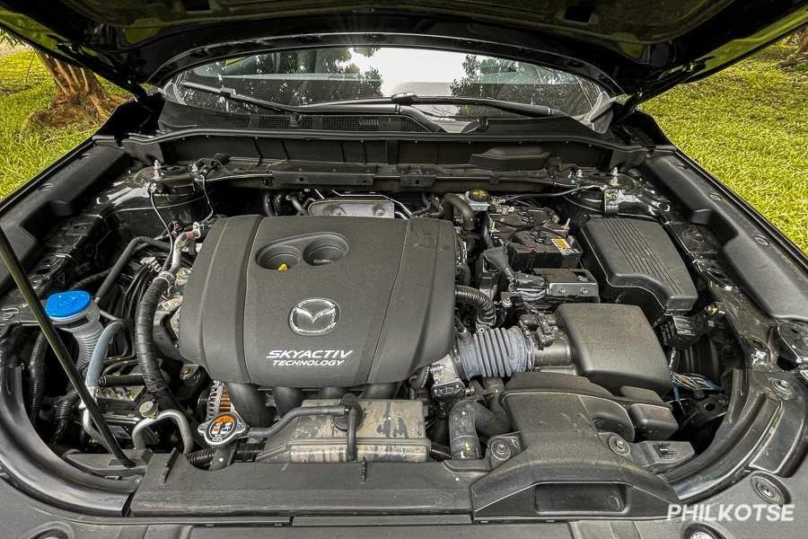 A picture of the CX-8's engine