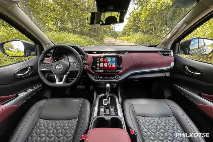 A picture of the interior of the Nissan Terra VL