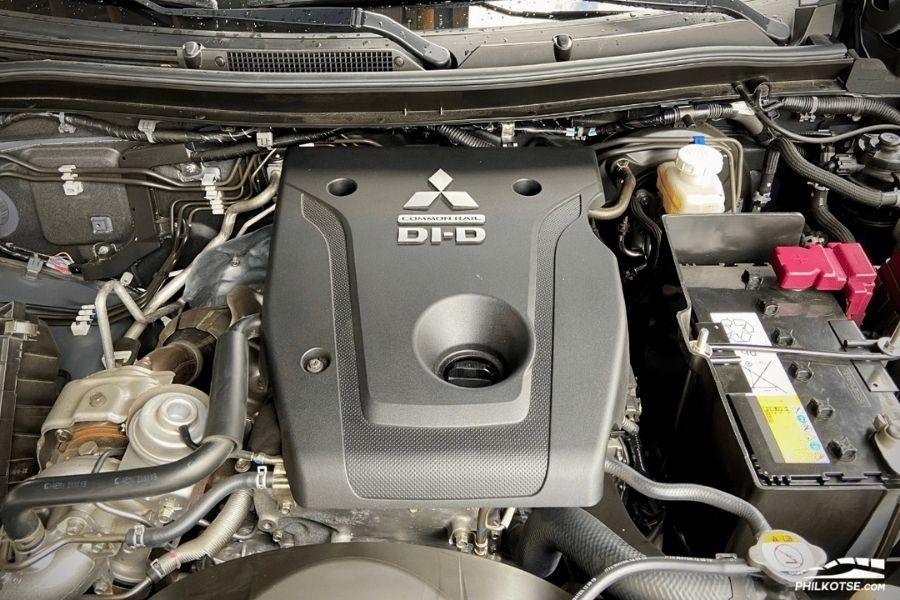 A picture of the Montero Sport's engine