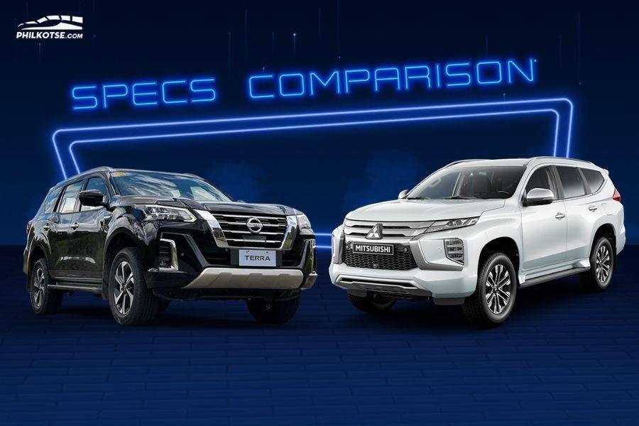 A picture of the Nissan Terra and Mitsubishi Montero Sport head to head