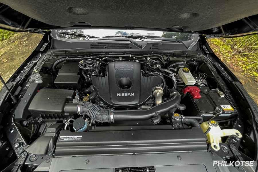 A picture of the Nissan Terra's engine.
