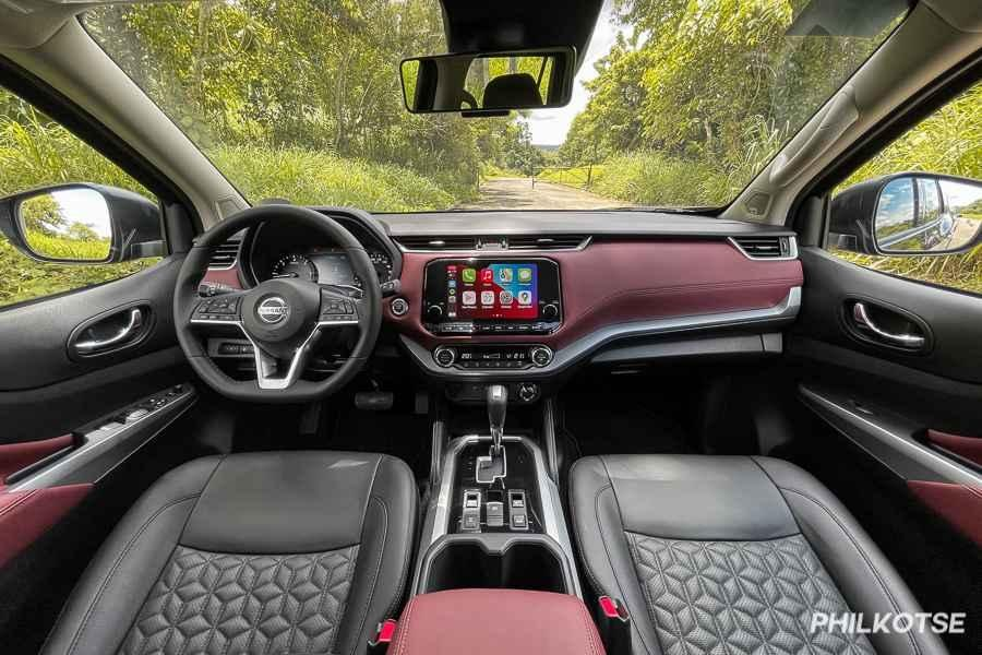 A picture of the interior of the Nissan Terra
