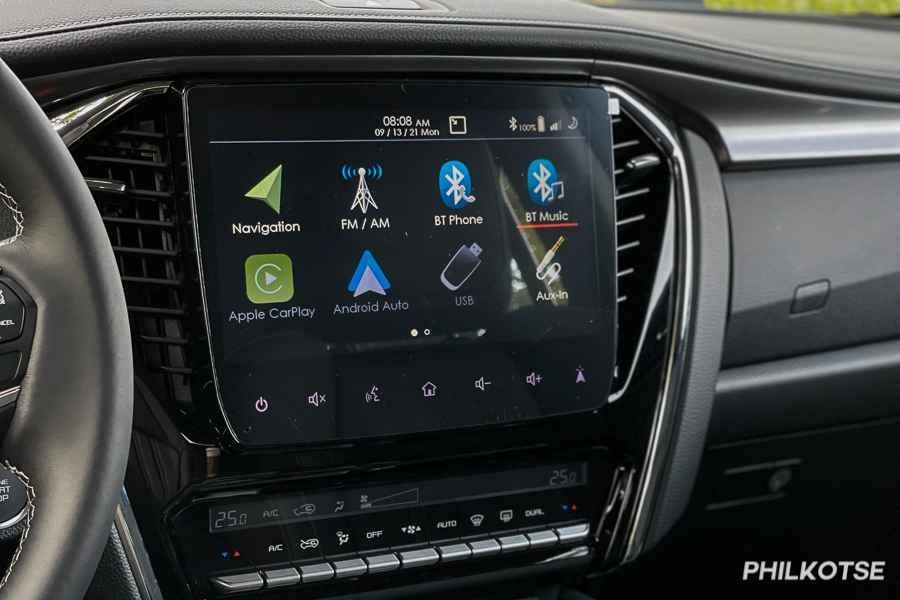 A picture of the mu-X LS-E's infotainment system.