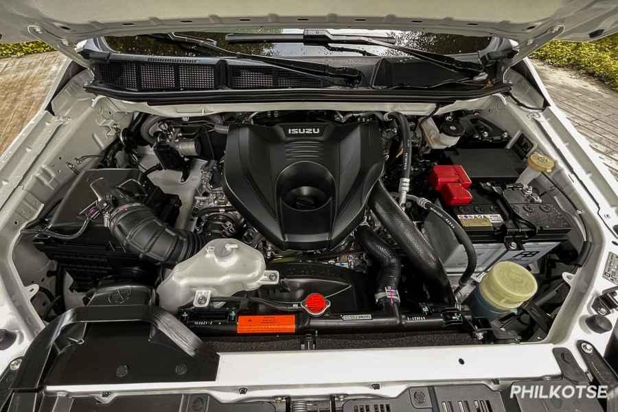 A picture of the mu-X's engine bay.