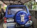 Selling Blue Mitsubishi Pajero 2002 at 80000 km in Davao City -1