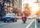Keeping safe on the road aboard a car and motorcycle