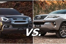 Toyota Fortuner V 4x4 AT vs Isuzu mu-X LS-A 4x4 AT: Which is better?