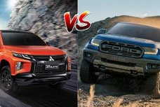 2020 Mitsubishi Strada Athlete vs Ford Ranger Raptor Specs Comparison