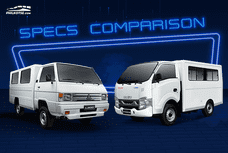 Isuzu Traviz vs Mitsubishi L300: Spec Sheet Comparison