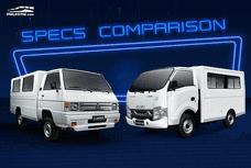 Isuzu Traviz vs Mitsubishi L300: Spec Sheet Comparison