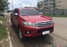 Red 2016 Toyota Hilux at 31000 km for sale