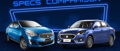 2021 Mitsubishi Mirage G4 vs Suzuki Dzire Comparison: Spec Sheet Battle