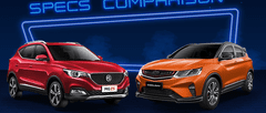 2021 MG ZS vs Geely Coolray Comparison: Spec Sheet Battle