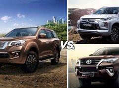 Nissan Terra vs Fortuner vs Montero Sport: Mid-size SUV threesome comparison!