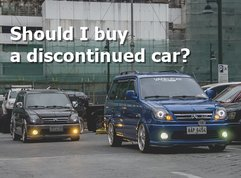 Some things you should consider before buying a discontinued car model