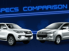 2020 Toyota Innova vs Toyota Fortuner Comparison: Spec Sheet Battle