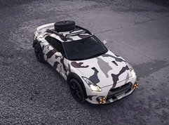 This off-roader is a Nissan GT-R and it is called Godzilla 2.0