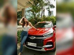 Phoemela Baranda flaunts red Chery crossover as the brand's new ambassador