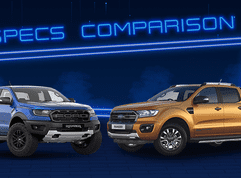 Sib Duel: Ford Ranger Raptor vs Ranger Wildtrak Biturbo Specs Comparison