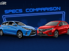2021 Honda City Hatchback vs Toyota Yaris Comparison: Spec Sheet Battle