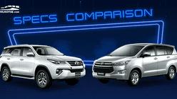2020 Toyota Innova vs Toyota Fortuner Comparison: Spec Sheet Battle
