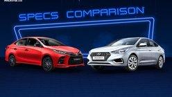 2021 Toyota Vios vs Hyundai Accent Comparison: Spec Sheet Battle